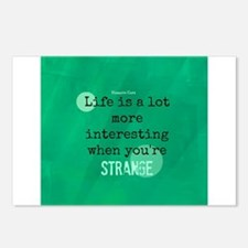 Life is Interesting When Youre Strange Postcards (