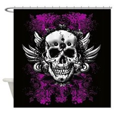 Grunge Skull Shower Curtain