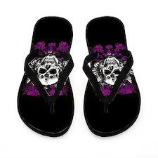 Grunge Skull Flip Flops