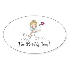 Blonde Team Bride Oval Decal