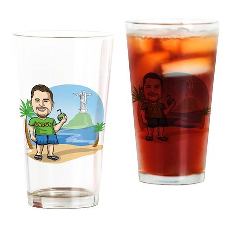 BrazilianGringo.com T-Shirt Drinking Glass