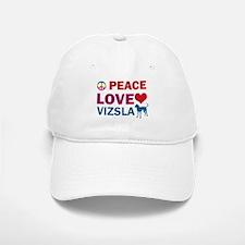 Peace Love Vizsla Baseball Baseball Cap