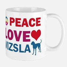 Peace Love Vizsla Small Small Mug