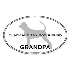 BT Coonhound GRANDPA Oval Decal