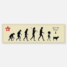 PUG EVOLUTION - Bumper sticker