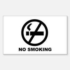 No Smoking Rectangle Decal