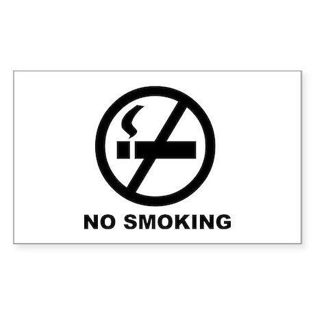 No Smoking Rectangle Sticker
