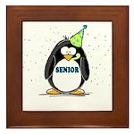 Senior Party Penguin Framed Tile