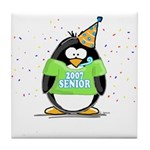 Senior 2007 Party Penguin Tile Coaster