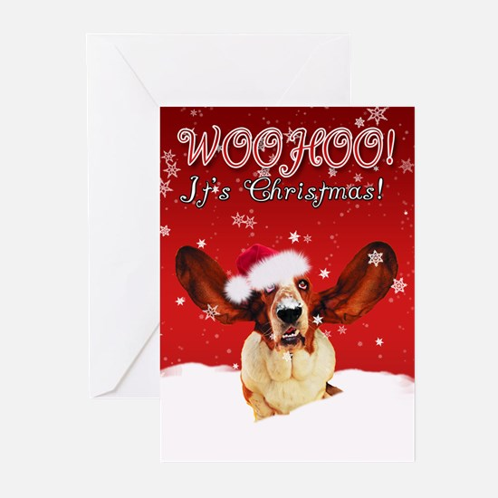 Basset Hound Christmas Card (Pk of 20)