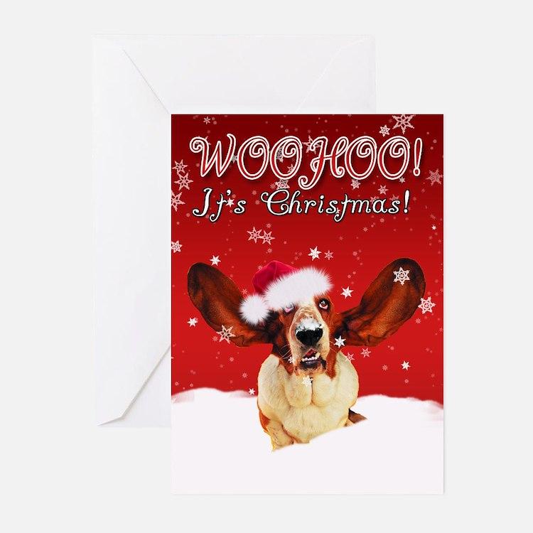 Basset Hound Christmas Card (Pk of 10)