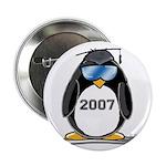 Cool Graduate 2007 Penguin Button