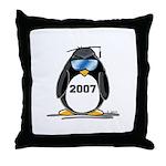 Cool Graduate 2007 Penguin Throw Pillow
