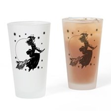 Old Fashioned Witch Drinking Glass