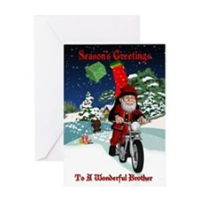 Brother Season's Greetings Motorcycle Santa