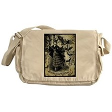 Victorian Halloween Bat Collage Messenger Bag