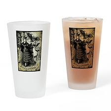 Victorian Halloween Bat Collage Drinking Glass