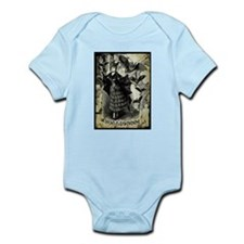 Victorian Halloween Bat Collage Infant Bodysuit