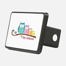 Custom owl family name Hitch Cover