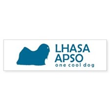 "Lhasa Apso ""One Cool Dog"" Bumper Bumper Sticker"