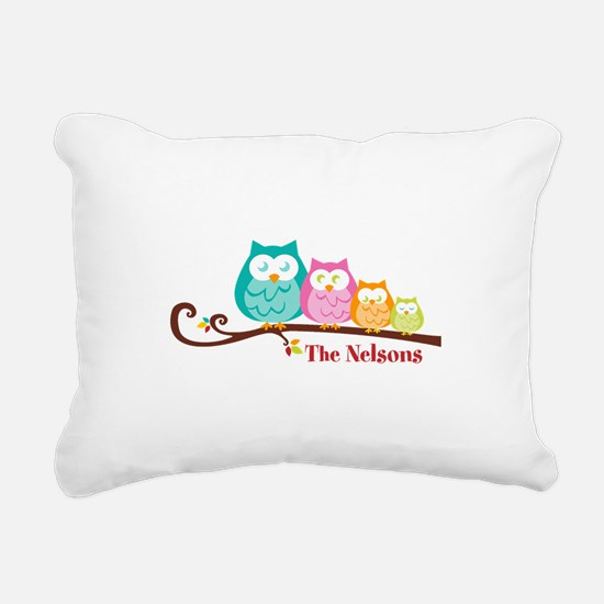 Custom owl family name Rectangular Canvas Pillow