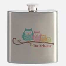 Custom owl family name Flask