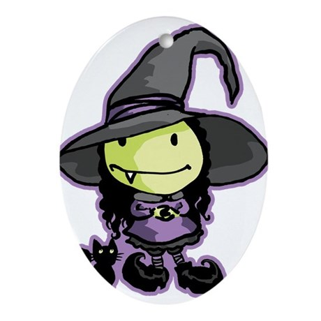 Lil' Witchy Ornament (Oval)