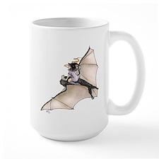 Tiny Witch On Bat Mug