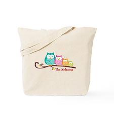 Custom owl family name Tote Bag