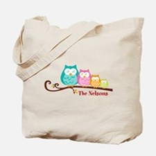 Custom owl family name Tote Bag
