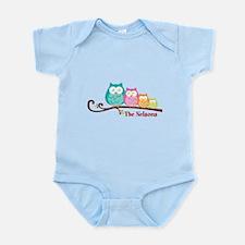 Custom owl family name Infant Bodysuit