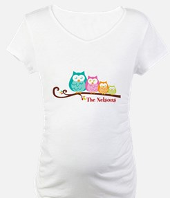 Custom owl family name Shirt