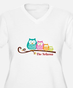 Custom owl family name T-Shirt