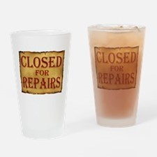 CLOSED SIGN Drinking Glass