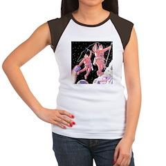 Moon Walk Women's Cap Sleeve T-Shirt