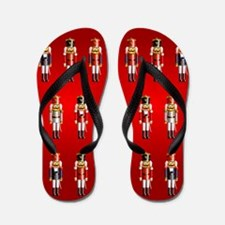 Nutty Nutcracker Toy Soldiers Flip Flops