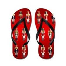 Nutty Nutcrackers Flip Flops