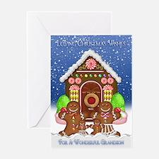 Christmas Card Wonderful Grandson Gingerbread