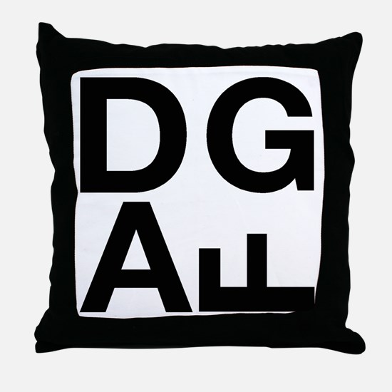 DGAF Black Throw Pillow