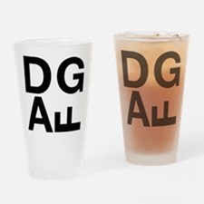 DGAF Black Drinking Glass