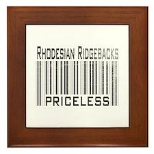 Rhodesian Ridgeback Dog Owner Framed Tile