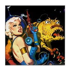 The Moondog and His Mistress Tile Coaster