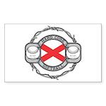 Alabama Softball Rectangle Sticker