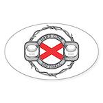 Alabama Softball Oval Sticker