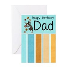 Dad birthday card with cake and mouse