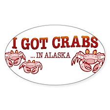 I GOT CRABS IN ALASKA Decal