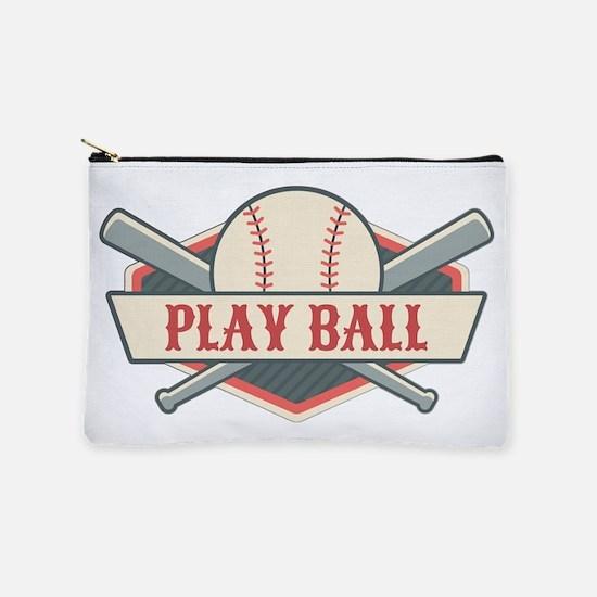Play Ball Baseball Makeup Pouch