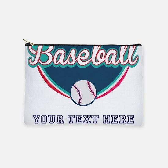 Custom Baseball Fan Makeup Pouch