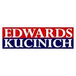 Edwards-Kucinich 2008 bumper sticker