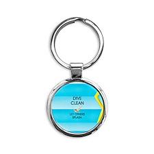 Dive Clean Round Keychain
